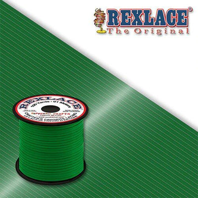 Kelly Green Plastic Rexlace 100 Yard Roll - artcovecrafts.com