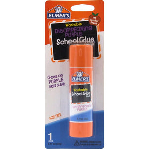 Elmer's Disappearing Purple School Glue Stick, 0.77 oz, Single Stick (E523)