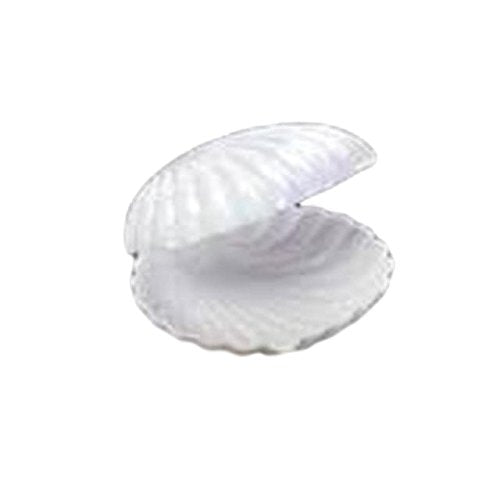 12 Medium Plastic Shell Candy Boxes Favors White 2.5 Inches Diameter - artcovecrafts.com