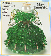 May Birthstone Angel Christmas Ornament Kit - artcovecrafts.com