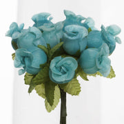 Aqua Mini Rose Buds 144 Pieces - artcovecrafts.com
