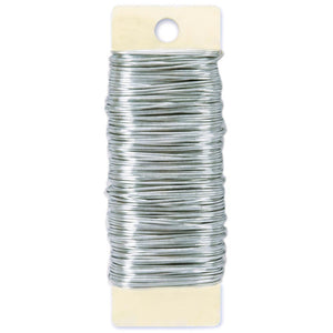 22 Gauge Silver Floral Paddle Wire 1/4 lb