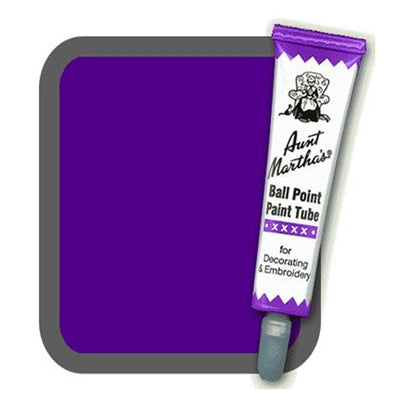 Purple Aunt Martha's Ballpoint Embroidery Fabric Paint Tube Pens 1 oz - artcovecrafts.com