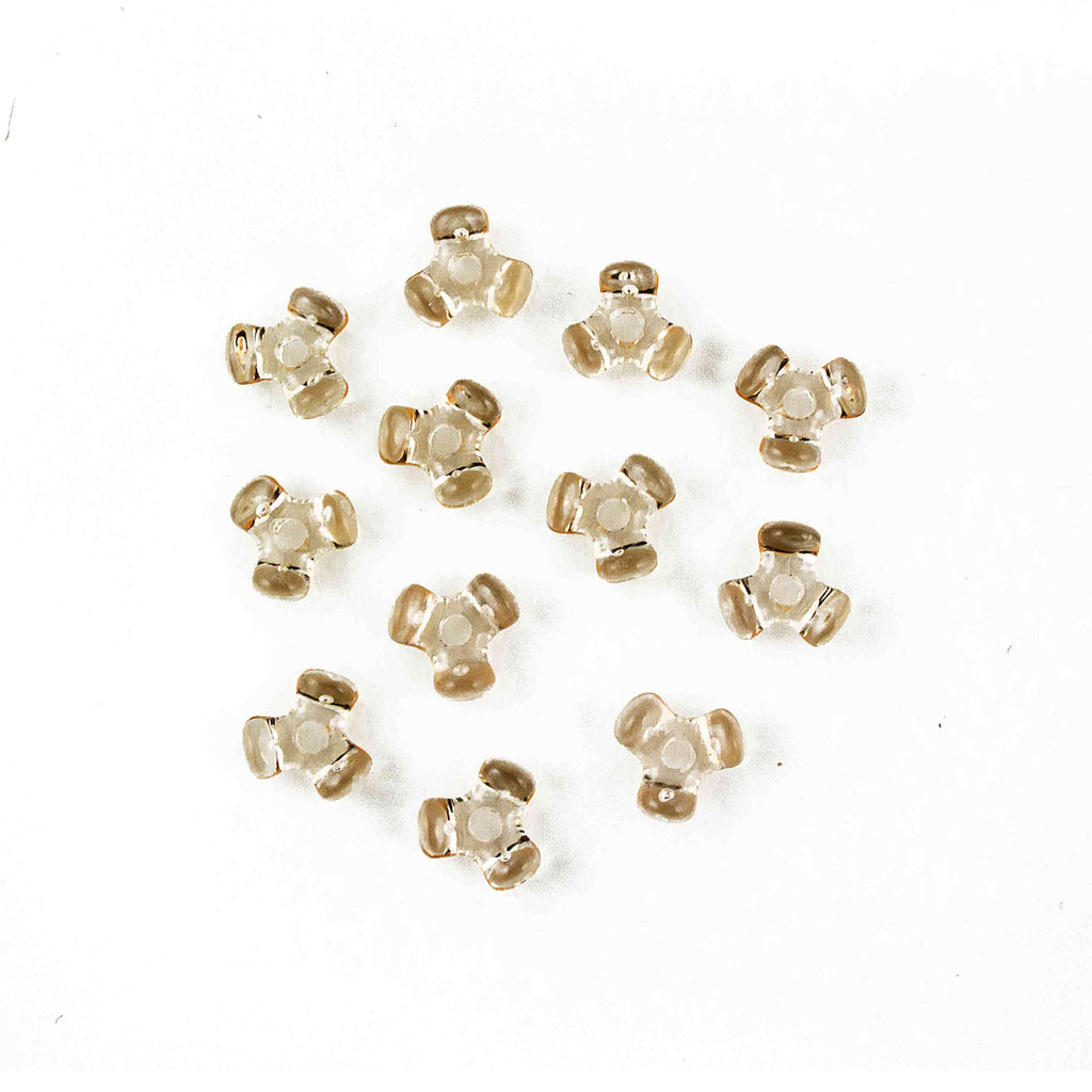 11 mm Acrylic Champagne Tri Beads 1,000 Pieces - artcovecrafts.com
