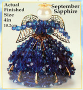 September Birthstone Angel Christmas Ornament Kit - artcovecrafts.com