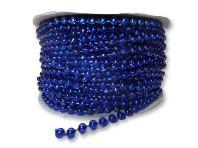 4mm Royal Blue Plastic Fused Pearls Garland Strands for Decorating & Crafts 24 Yards - artcovecrafts.com