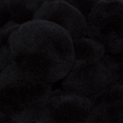 1 inch Black Small Craft Pom Poms 100 Pieces - artcovecrafts.com