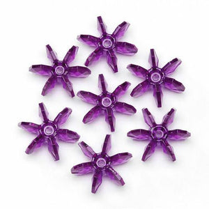 10mm Transparent Dark Purple Amethyst Starflake Beads 500 Pcs. - artcovecrafts.com