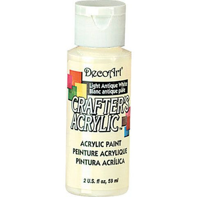DecoArt Crafters Acrylic Paint-Light Antique White 2 oz.