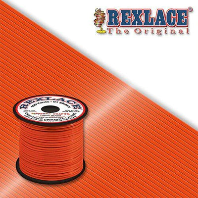 Orange Plastic Rexlace 100 Yards - artcovecrafts.com