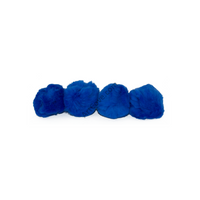2 Inch Royal Blue Craft Pom Poms 25 Pieces - artcovecrafts.com