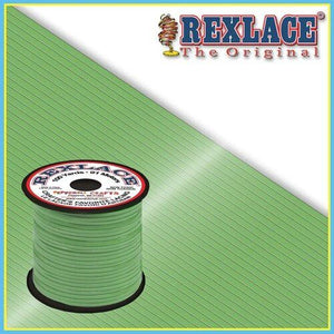 Glow in the Dark Green Plastic Rexlace 100 Yard Roll - artcovecrafts.com