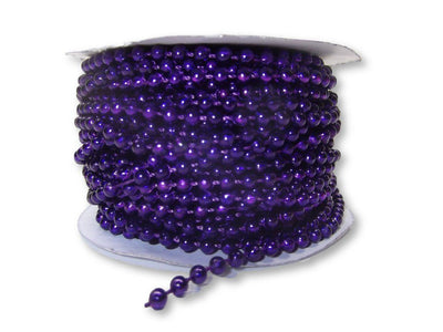 4mm Purple Plastic Fused Pearls Garland Strands for Decorating & Crafts 24 Yards - artcovecrafts.com