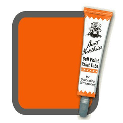 Orange Aunt Martha's Ballpoint Embroidery Fabric Paint Tube Pens 1 oz - artcovecrafts.com