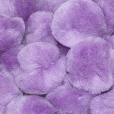 1.5 inch Lavender Craft Pom Poms 50 Pieces - artcovecrafts.com