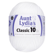 Aunt Lydia's White Classic Crochet Thread Size 10 Jumbo 2730 Yards - artcovecrafts.com