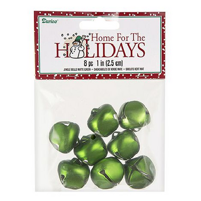 Darice 25 mm Matte Green Bells 8 Pieces 1148-28 - artcovecrafts.com
