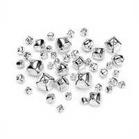 Darice Silver Bells Assorted Sizes 43 Pieces 1090-62 - artcovecrafts.com