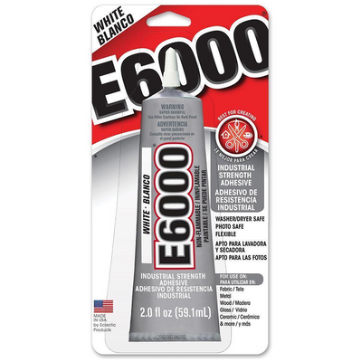 E6000 Glue 2oz White - artcovecrafts.com