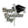 Happy Graduation Day Floral Pick Cake Topper White, Gold, Black 12 Pieces - artcovecrafts.com