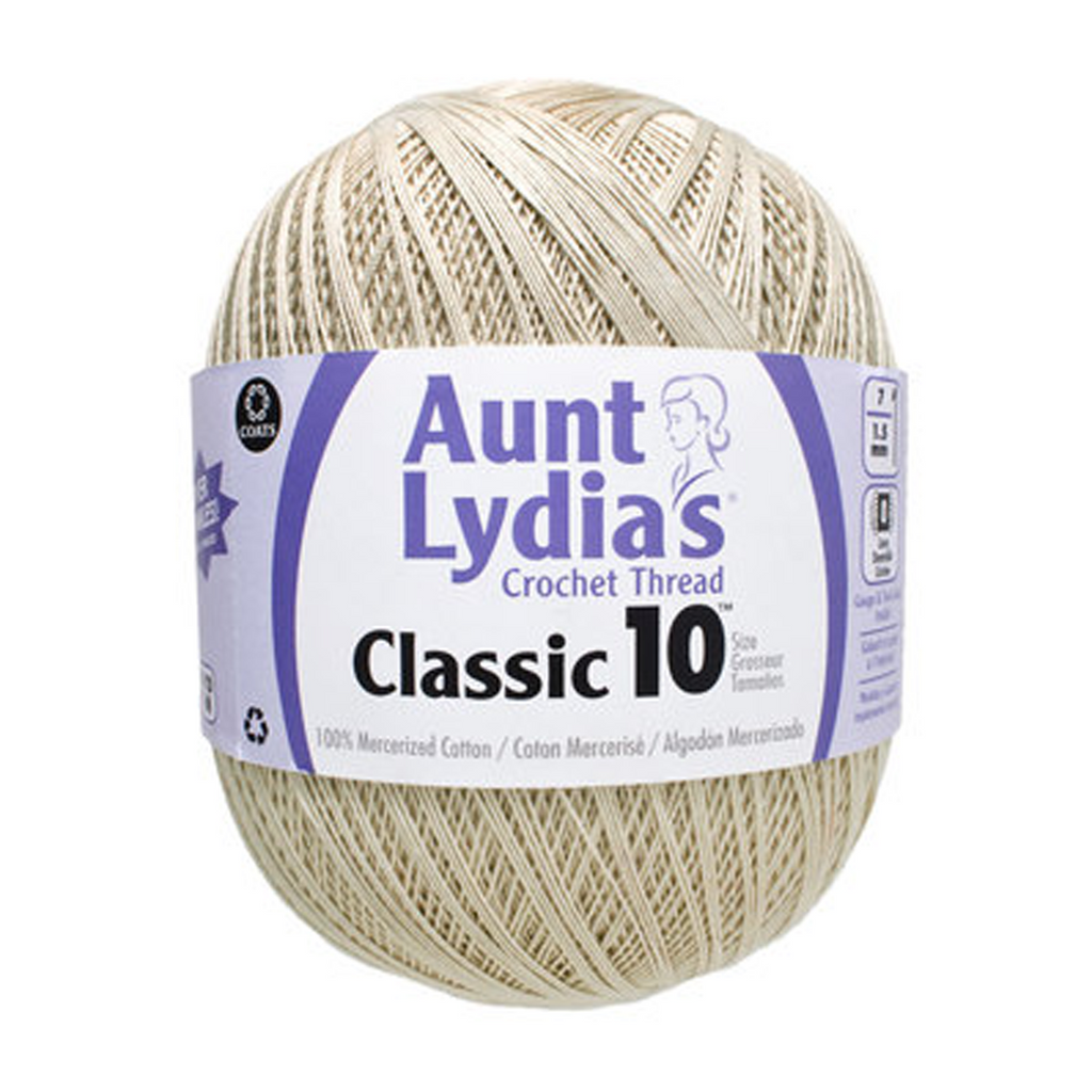 Aunt Lydia's Classic Crochet Thread Size 10 Value 1000 Yards Natural - artcovecrafts.com