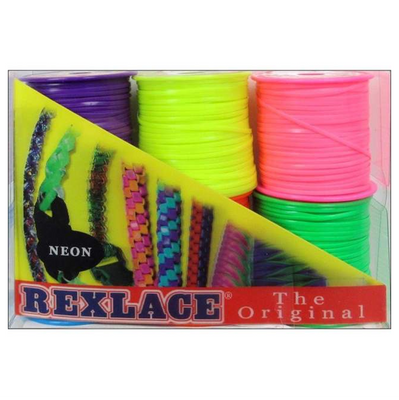 Pepperell Plastic Rexlace 6 Neon Colors - artcovecrafts.com