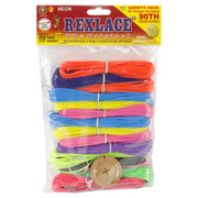 Pepperell Rexlace Variety Pack 450 feet - Neon Colors RX-151 - artcovecrafts.com