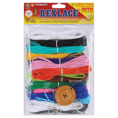 Plastic Rexlace Primary Colors Kit 450 Feet RX-153 - artcovecrafts.com