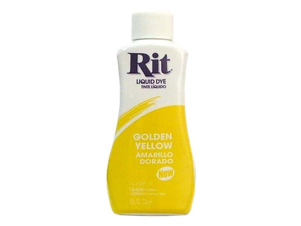 Golden Yellow Rit Dye Liquid All Purpose 8oz