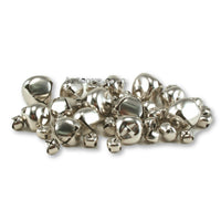 Silver Small Jingle Bells Assorted Sizes 3/8, 1/2, 3/4 and 1 inch 43 Pieces - artcovecrafts.com