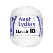 White Aunt Lydias Value Crochet Cotton Thread  Size 10 - 1000 yards - artcovecrafts.com