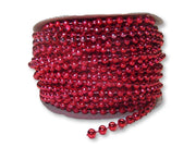 4mm Red Plastic Fused Pearls Garland Strands for Decorating & Crafts 24 Yards - artcovecrafts.com