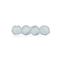 3 Inch White Large Craft Pom Poms 12 Pieces - artcovecrafts.com