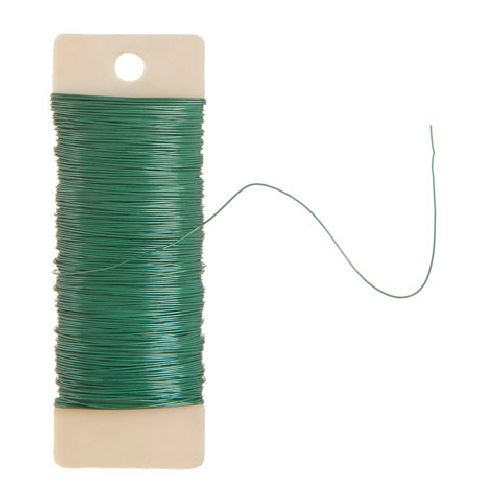 20 Gauge Green Floral Paddle Wire 1/4 lb