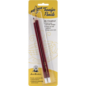 Aunt Martha's Hot Iron Transfer Pencils 2 Pieces - artcovecrafts.com