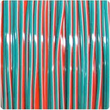 Neon Orange- White- Turquoise Duo Plastic Rexlace 100 Yard Roll - artcovecrafts.com