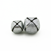 Glitter Silver Small Craft Jingle Bells Assorted Sizes 18 Pieces - artcovecrafts.com