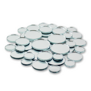 Small Mini Round Craft Mirrors Bulk Assortment 1/2, 3/4 & 1 inch 25 Pieces Mirror Mosaic Tiles - artcovecrafts.com