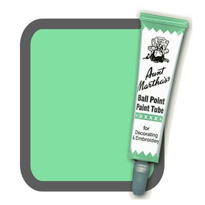 Light Green Aunt Martha's Ballpoint Embroidery Fabric Paint Tube Pens 1 oz - artcovecrafts.com
