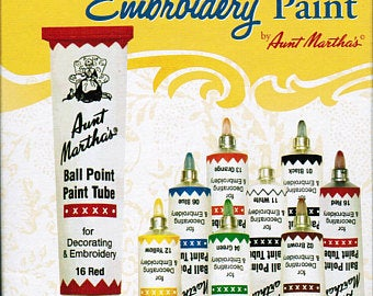 Aunt Martha's Ballpoint Paint Set 8 Primary Colors - artcovecrafts.com