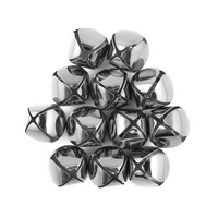 1 Inch 25mm Silver Craft Jingle Bells Charms 48 Pieces - artcovecrafts.com