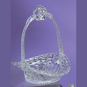 Clear Plastic Mini Basket with Flower Handle