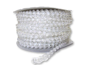 4mm Crytsal AB Plastic Fused Pearls Garland Strands for Decorating & Crafts 24 Yards - artcovecrafts.com