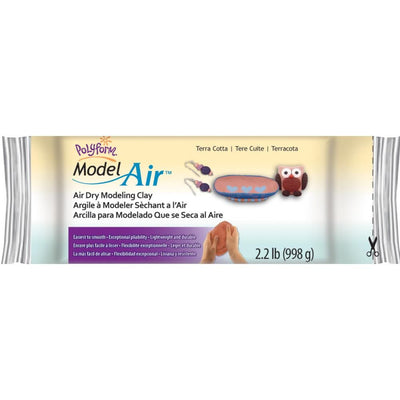 Polyform Model Air - Terra Cotta Air Dry Clay 2.25 lbs. - artcovecrafts.com