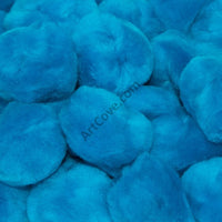 0.75 inch Turquoise Mini Craft Pom Poms 100 Pieces - artcovecrafts.com