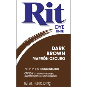 Rit Dye Dark Brown Powder 1-1/8 oz