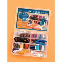 Clear Deluxe Bead Organizer with 8 Compartments 10 X 7 Inches - artcovecrafts.com