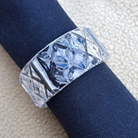 2 inch Clear Crystal Plastic Napkin Holder Rings 12 Pieces - artcovecrafts.com