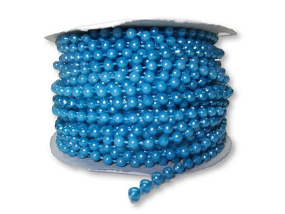 4mm Turquoise Plastic Fused Pearls Garland Strands for Decorating & Crafts 24 Yards - artcovecrafts.com