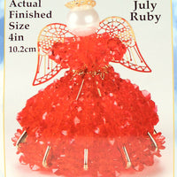 July Birthstone Angel Christmas Ornament Kit - artcovecrafts.com